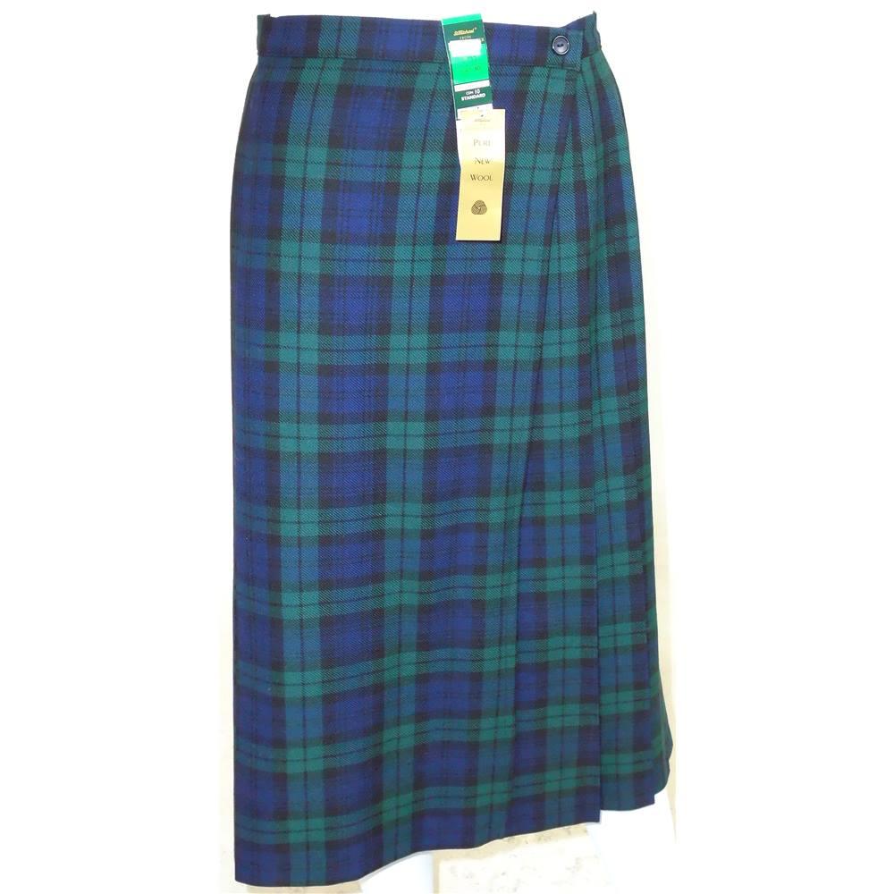 4cd965e1ca M&S St Michael Size 12 Blue Tartan Skirt | Oxfam GB | Oxfam's Online ...