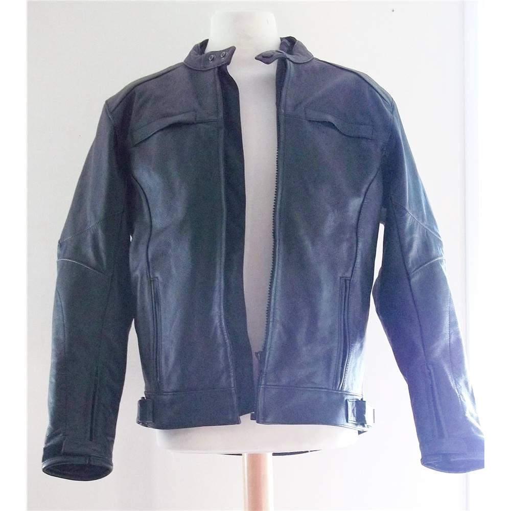 2e18ca2d2 Crane - Size: M - Black - Leather biker jacket   Oxfam GB   Oxfam's Online  Shop