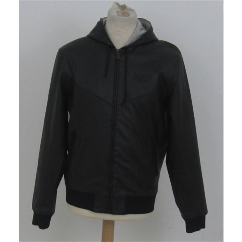 2213c613 Zara size: M black bomber jacket   Oxfam GB   Oxfam's Online Shop