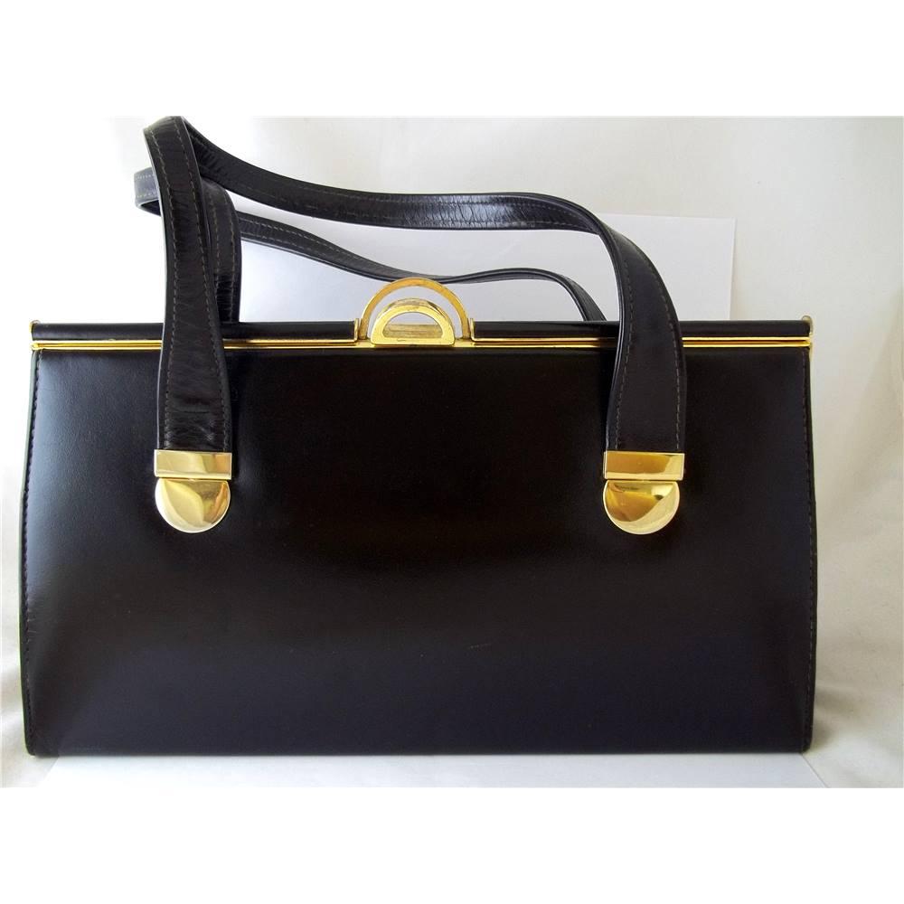 Vintage Ackery London Black Handbag Loading Zoom