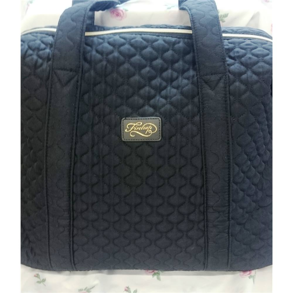 Firetrap Large Black Quilted Tote Bag With Gold Zip Firetrap Size