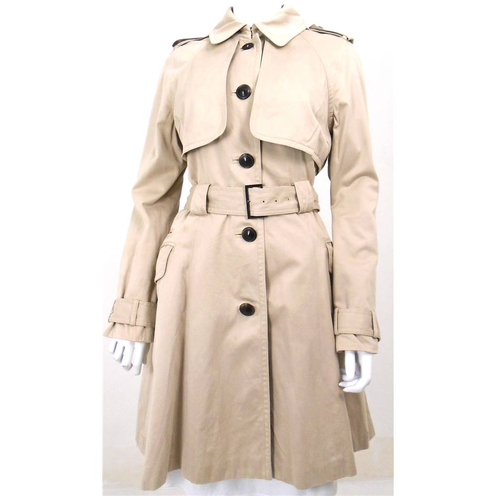 8df8a4a9386b37 Ted Baker Size 12 Beige Trench Coat