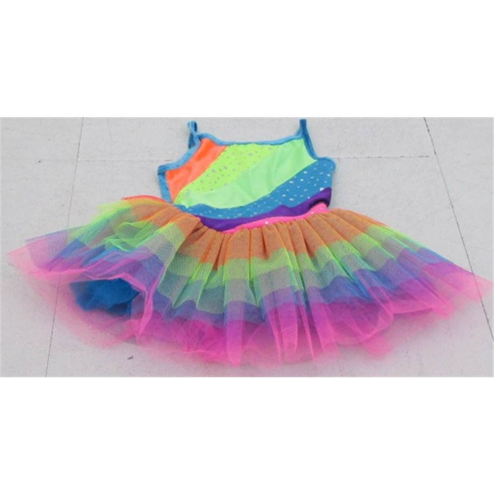 ad0aa9f4a87e IDS size  6-8 years rainbow with sequins party dress