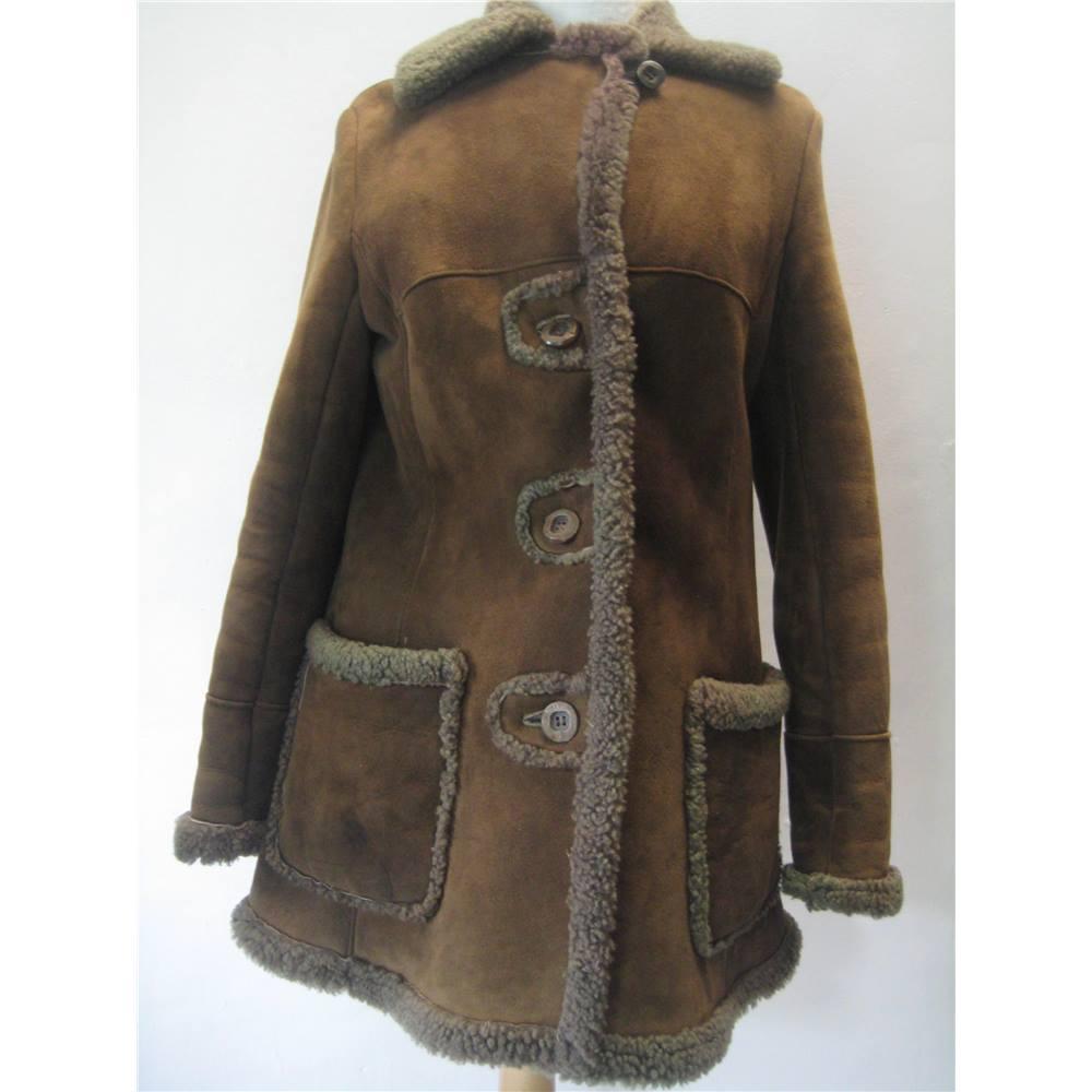 Bailey's of Glastonbury Size 14 Brown Sheepskin coat | Oxfam GB ...