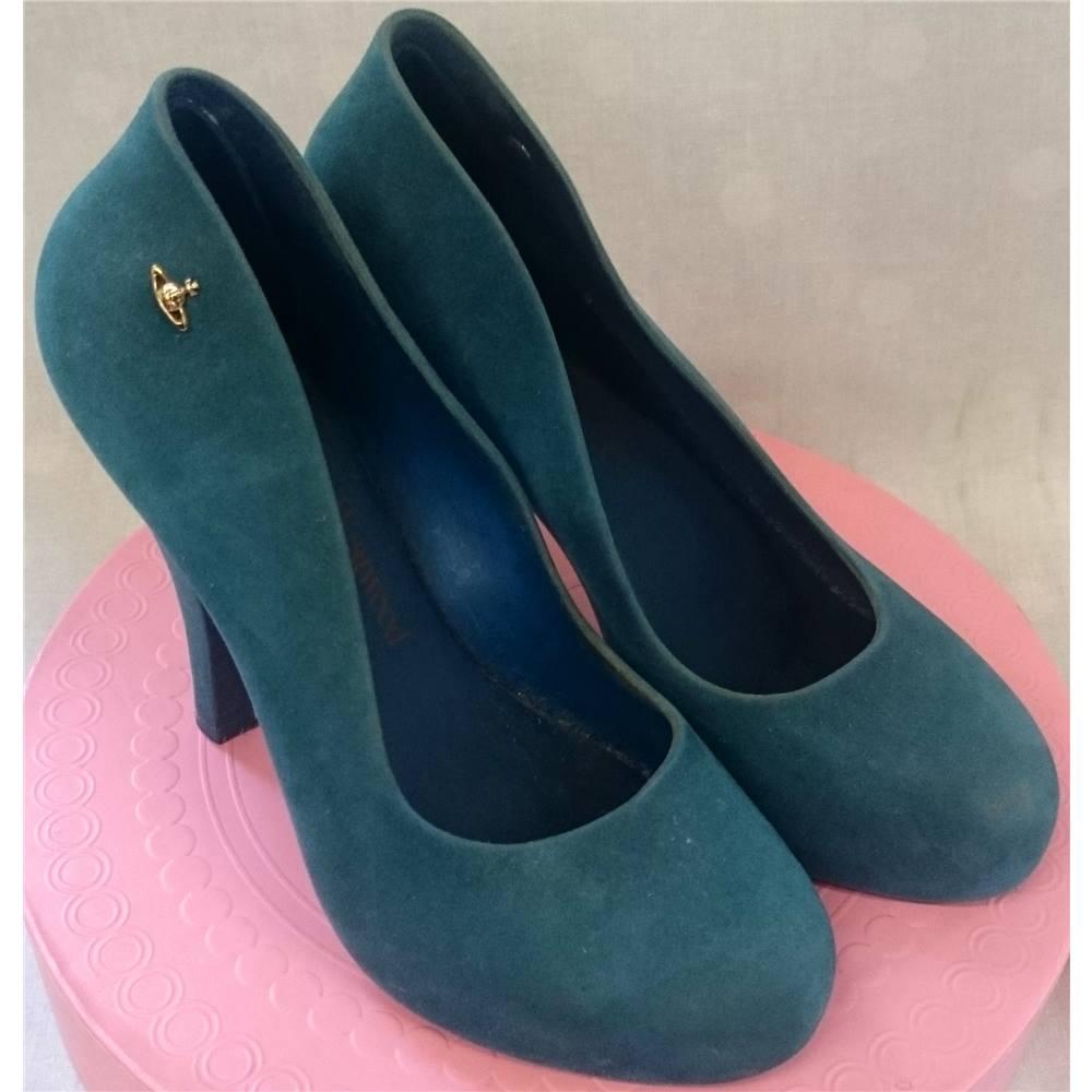 6d662c5bedf Vivienne Westwood Melissa Heels Turquoise size 38 UK size Vivienne Westwood  - Size: 5 - Green - Heeled shoes | Oxfam GB | Oxfam's Online Shop
