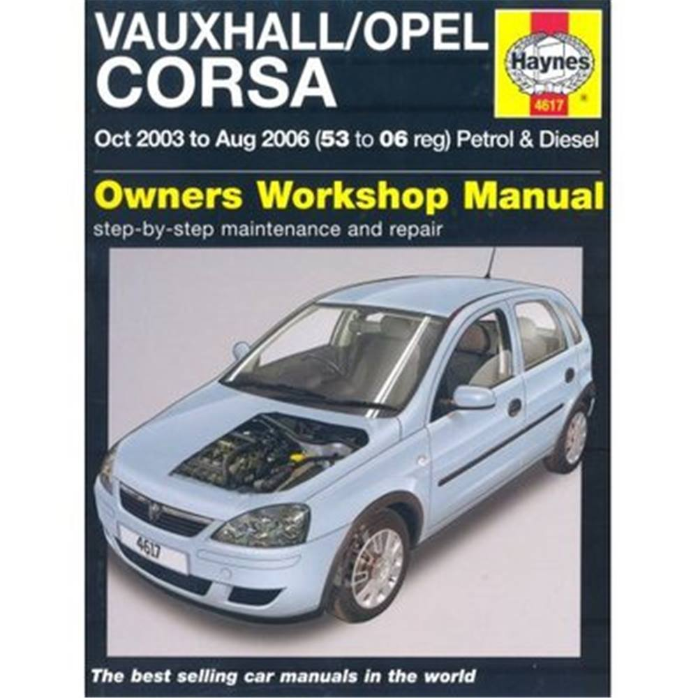vauxhall opel corsa owners workshop manual october 2003 to august rh oxfam org uk opel corsa 2006 owners manual vauxhall corsa 2006 user manual