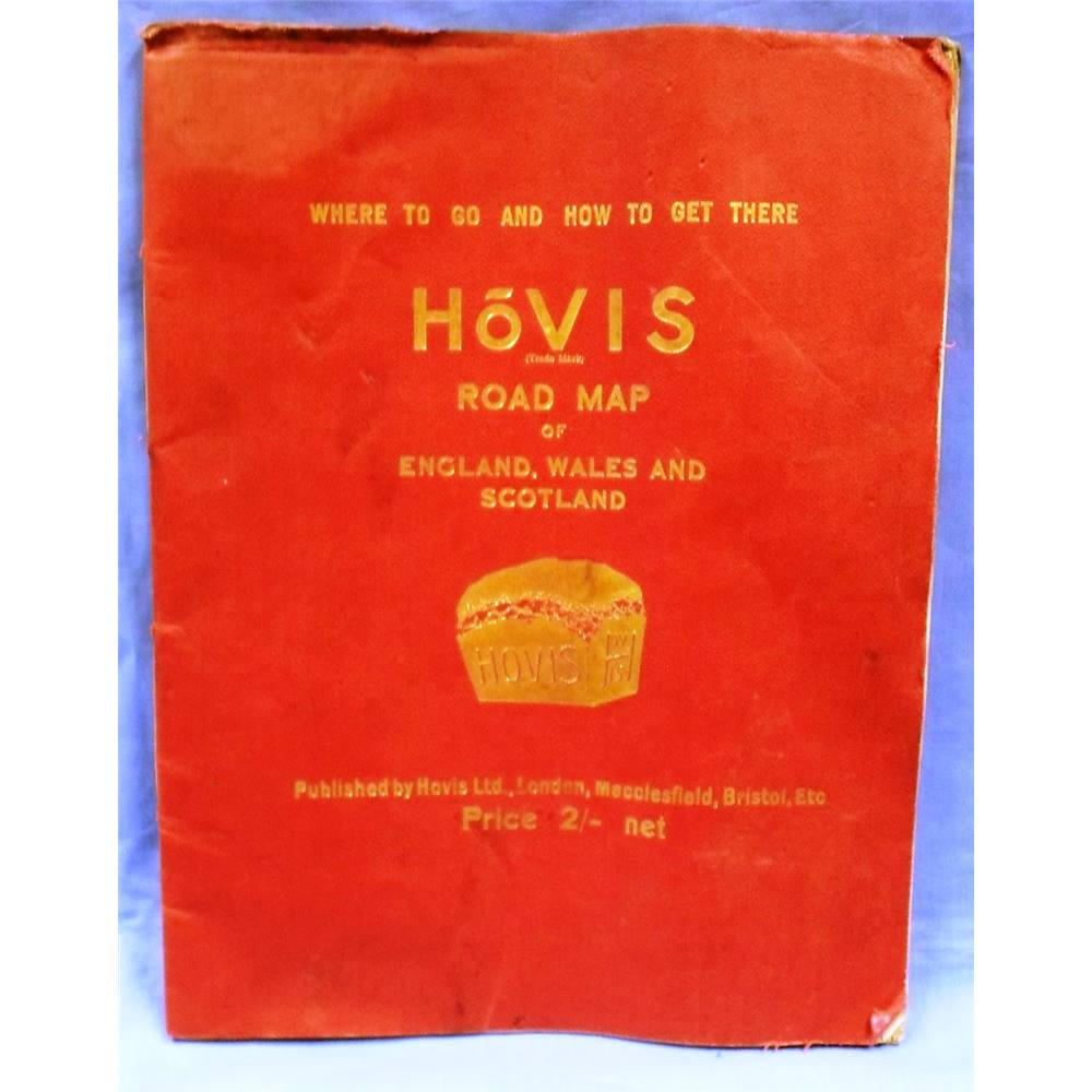 Vintage Hovis Road Map of England, Wales and Scotland. \'Where to go ...