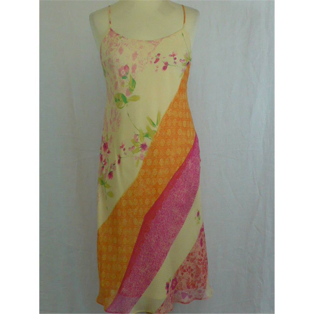 Knee Size 10 Dress Multi Length Slip Coloured Iblues 6xBwYq