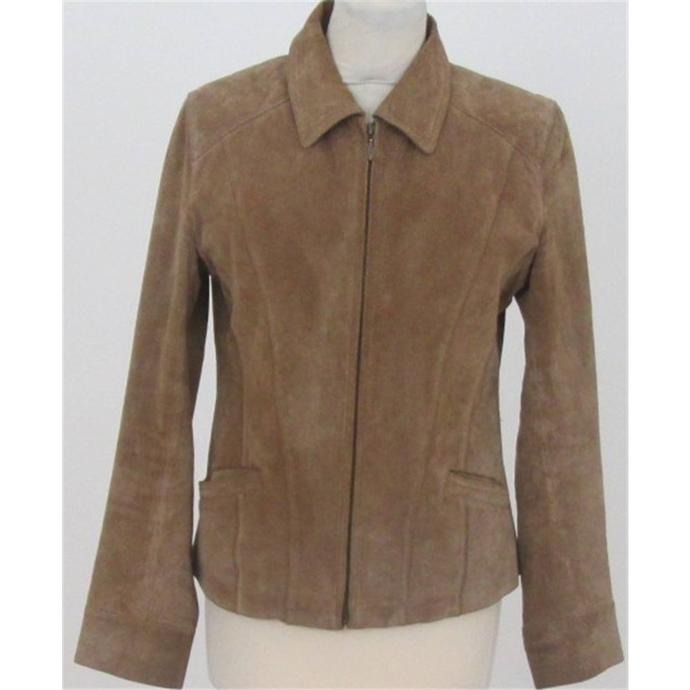 19a32db7f94e3 WS Leather size  10 brown suede jacket
