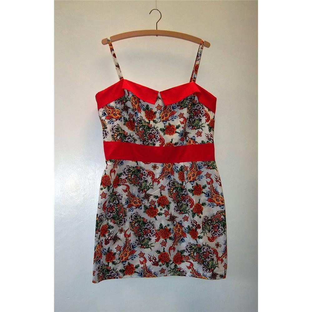 087f942bff1e1 Hand Made Retro Perfecto Tattoo Print Short Dress Size L | Oxfam GB |  Oxfam's Online Shop