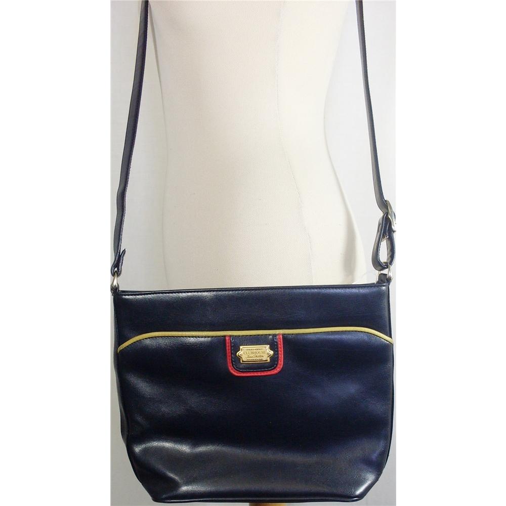 Jane Shilton  Clubhouse  medium black faux leather handbag. Loading zoom ee338b87c5dc9