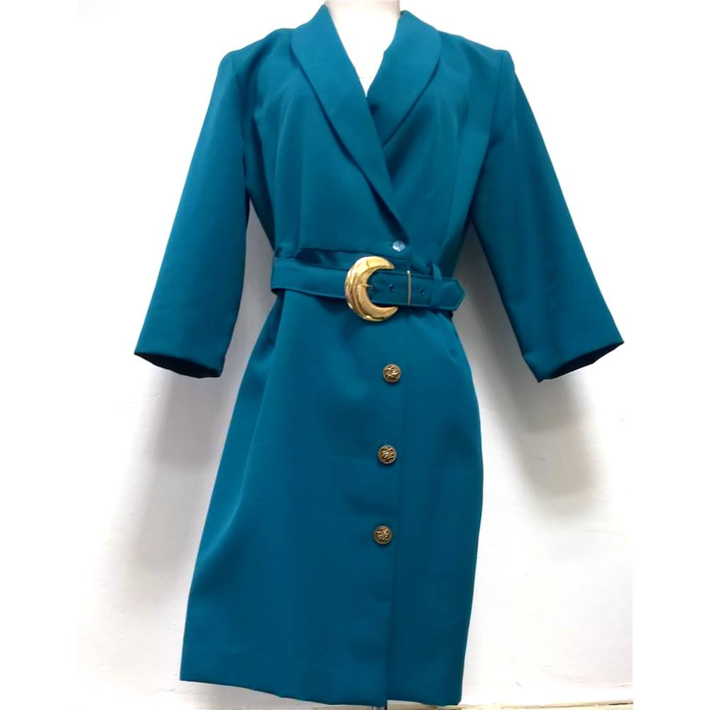 96823fc7f613 Whirlaway Frocks Size 10 Circa 1950 s Turquoise Dress. Loading zoom