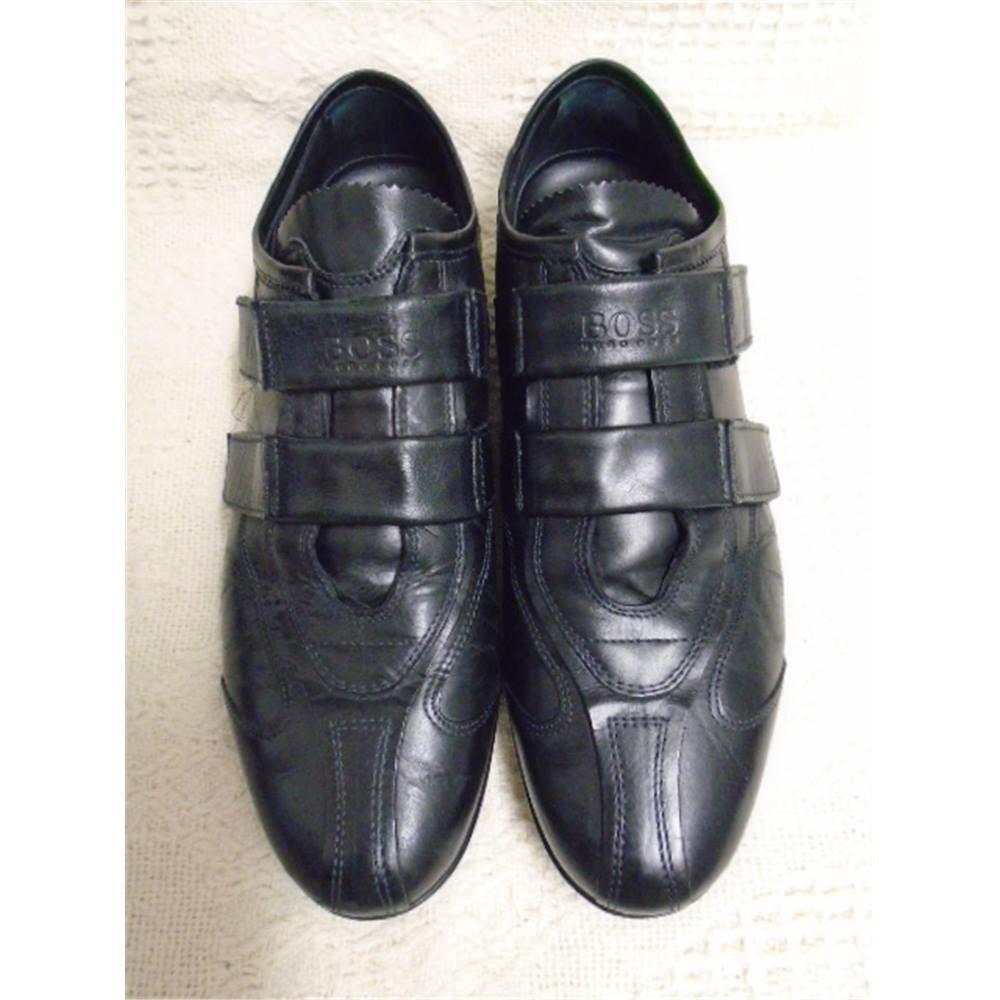 5e071ff5dabbb Hugo Boss Velcro Trainer Shoes Hugo Boss - Size  8 - Black - Designers