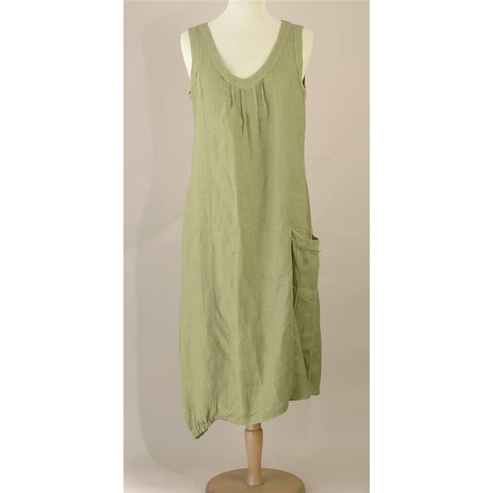 8fa4431e2b11 Haris Cotton Sage Green Summer Linen Dress