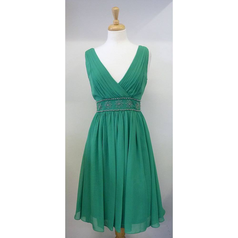 Enchanted by Ann Louise Roswald size 10 emerald green dress .