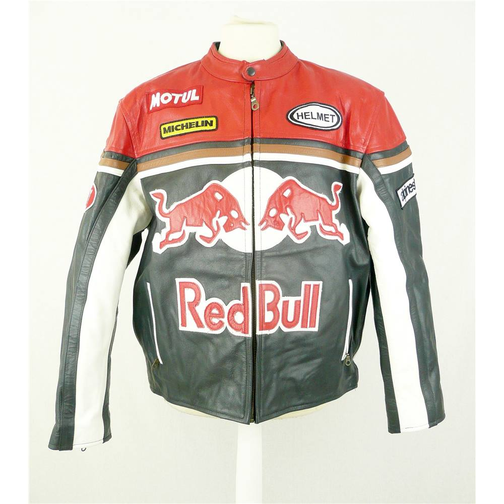top gear xxl red bull leather motorcycle jacket oxfam gb. Black Bedroom Furniture Sets. Home Design Ideas
