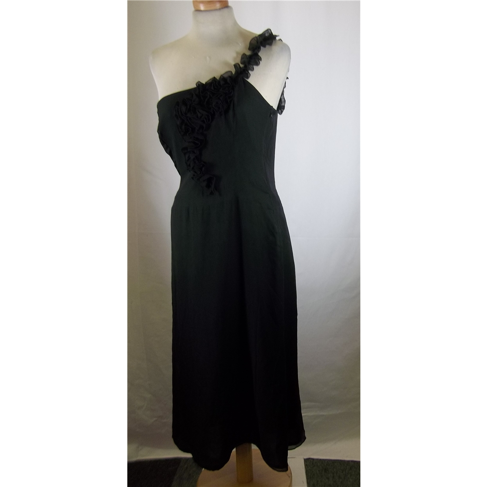Press   Bastyan - Size  10 - Black - Knee length dress. Loading zoom b4408c188a