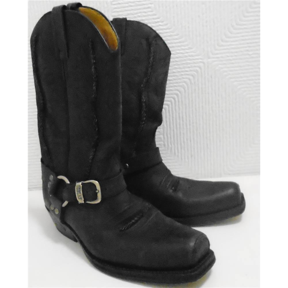 4816c64b75d Loblan 641 Black men's leather cowboy boots | Oxfam GB | Oxfam's Online Shop