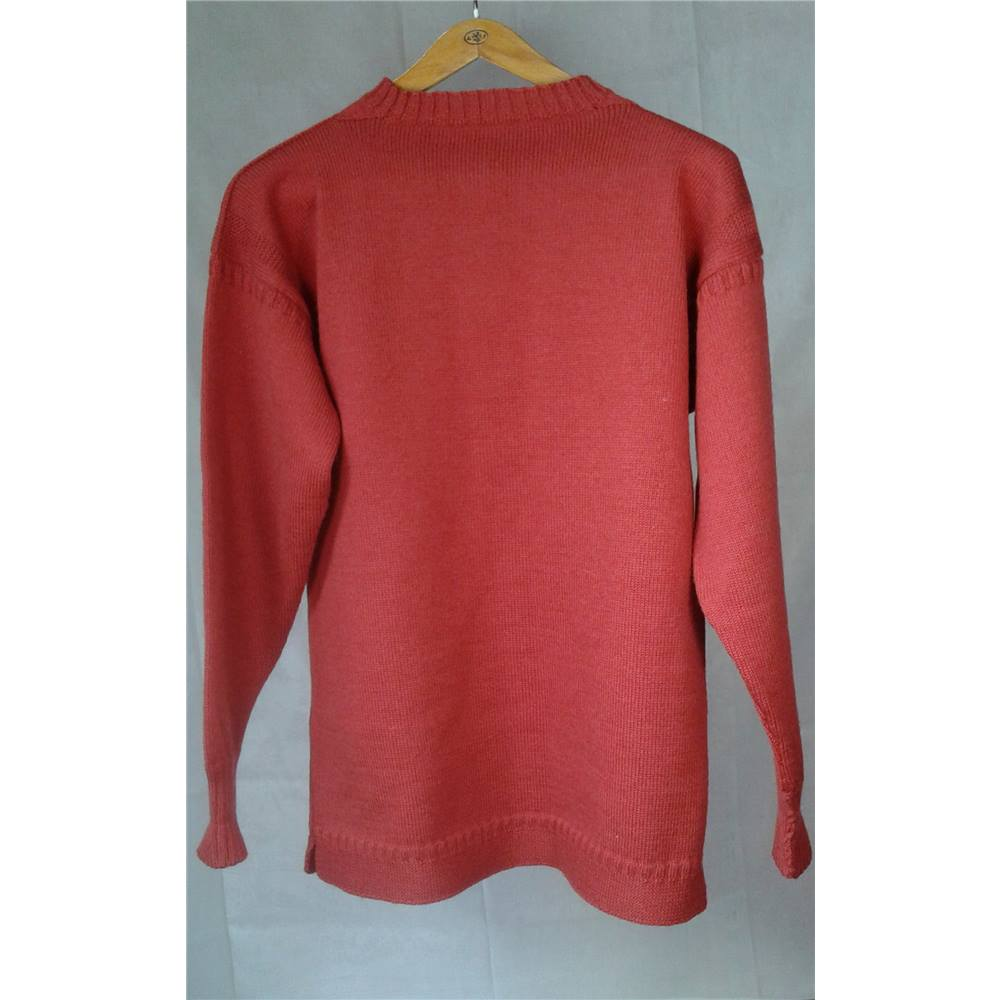 36922584b06e Traditional Guernsey by Le tricoteur - Size  M - Breton Red - Jumper ...