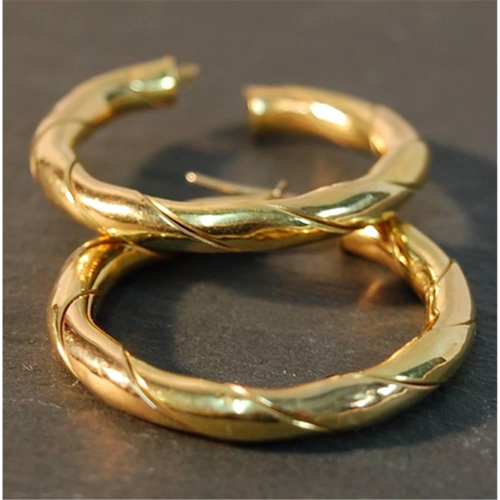 18ct Gold Hoop Earrings Loading Zoom