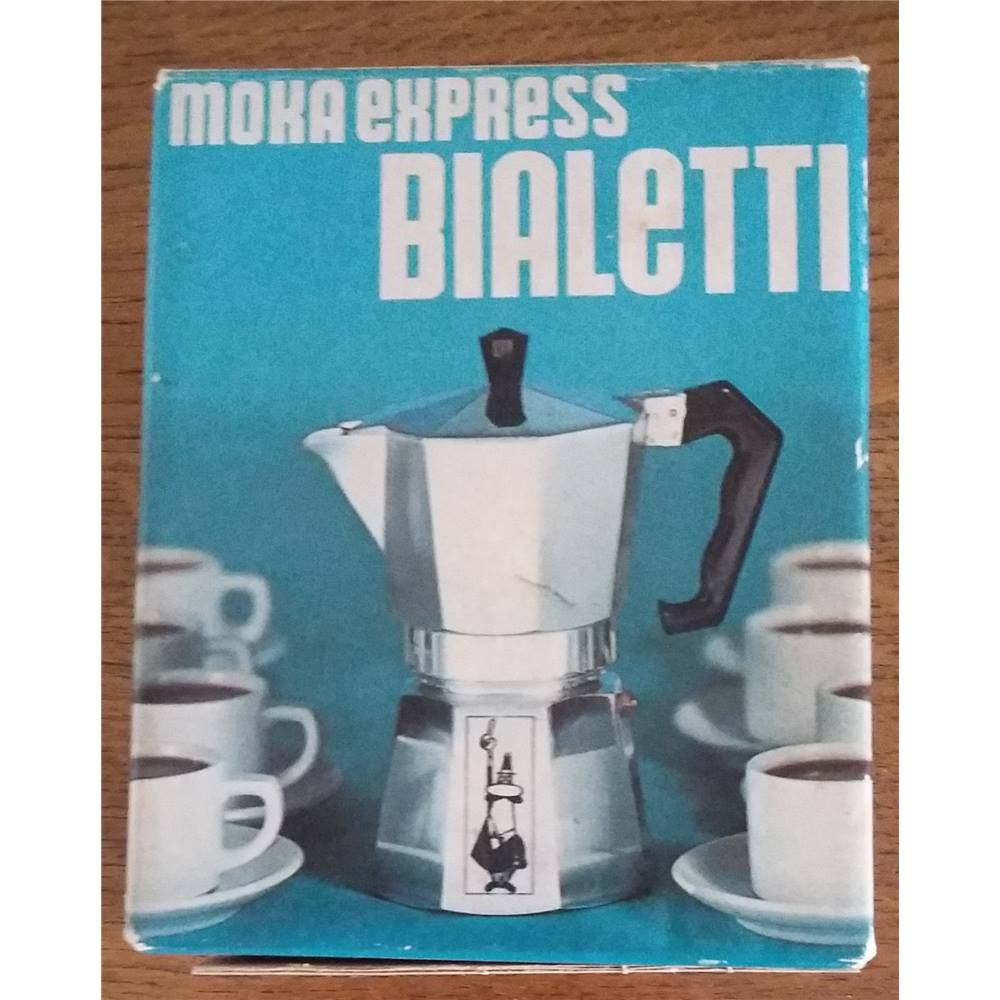 Vintage Bialetti Mocha Express 3 Cup Stove Top Coffee Maker - in box ...