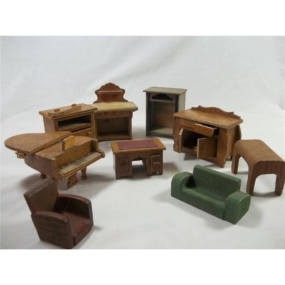 Vintage Wooden Dolls House Furniture Oxfam Gb Oxfams Online Shop
