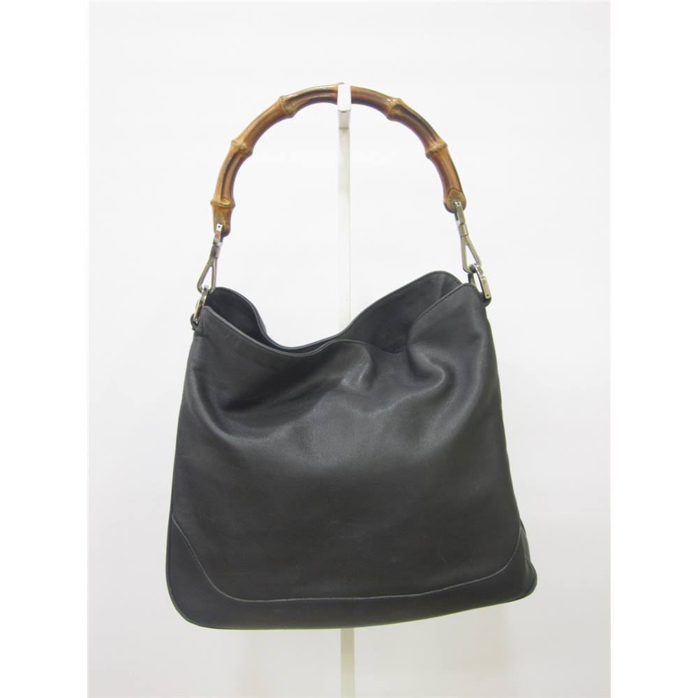 Gucci Handbag With Bamboo Handle Gucci Size S Black Top Handle Bag Oxfam Gb Oxfams Online Shop