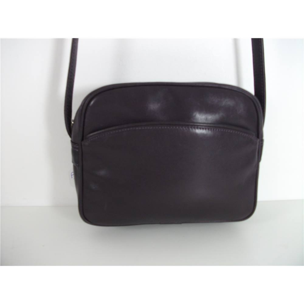Hotter Purple Leather Shoulder Bag Loading Zoom