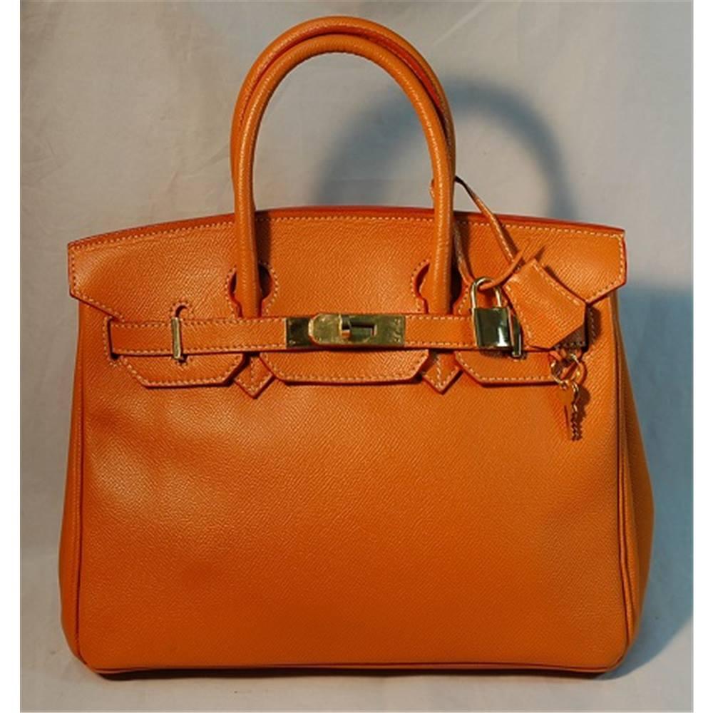 Buti Italy Avana Large Kelly Bag Orange Loading Zoom
