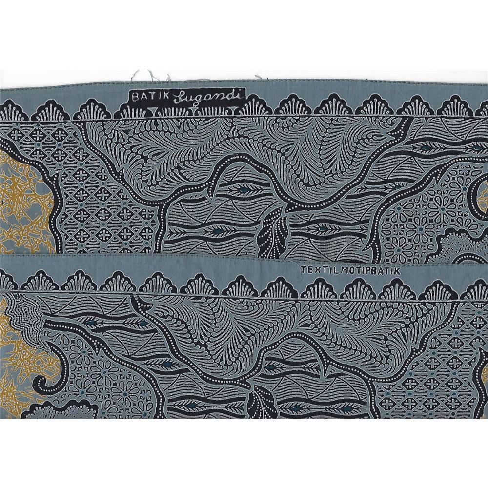Batik Lugandi Fabric Remnants - 2 Pieces - Blue  db4a76f487