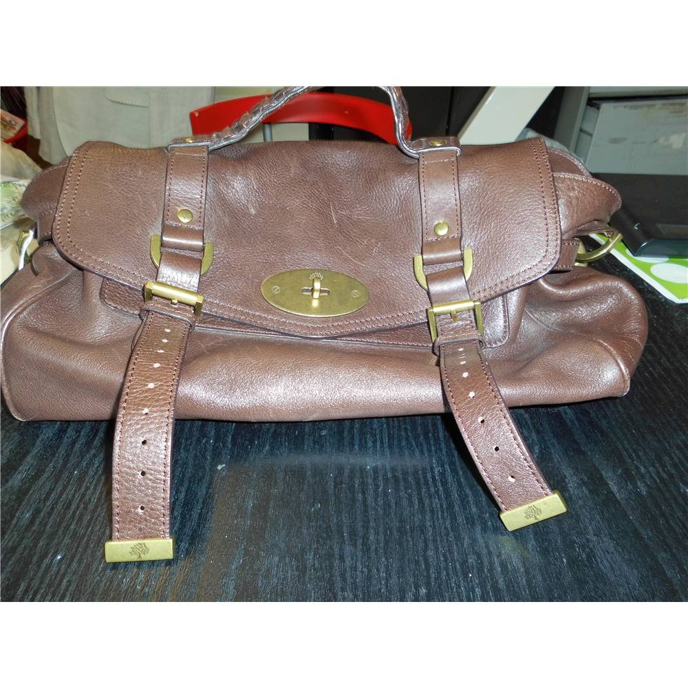 8278ed7a4f Mulberry Alexa in Chocolate Brown Soft Buffaro Leather Shoulder Bag Satchel  Mulberry - Size: One