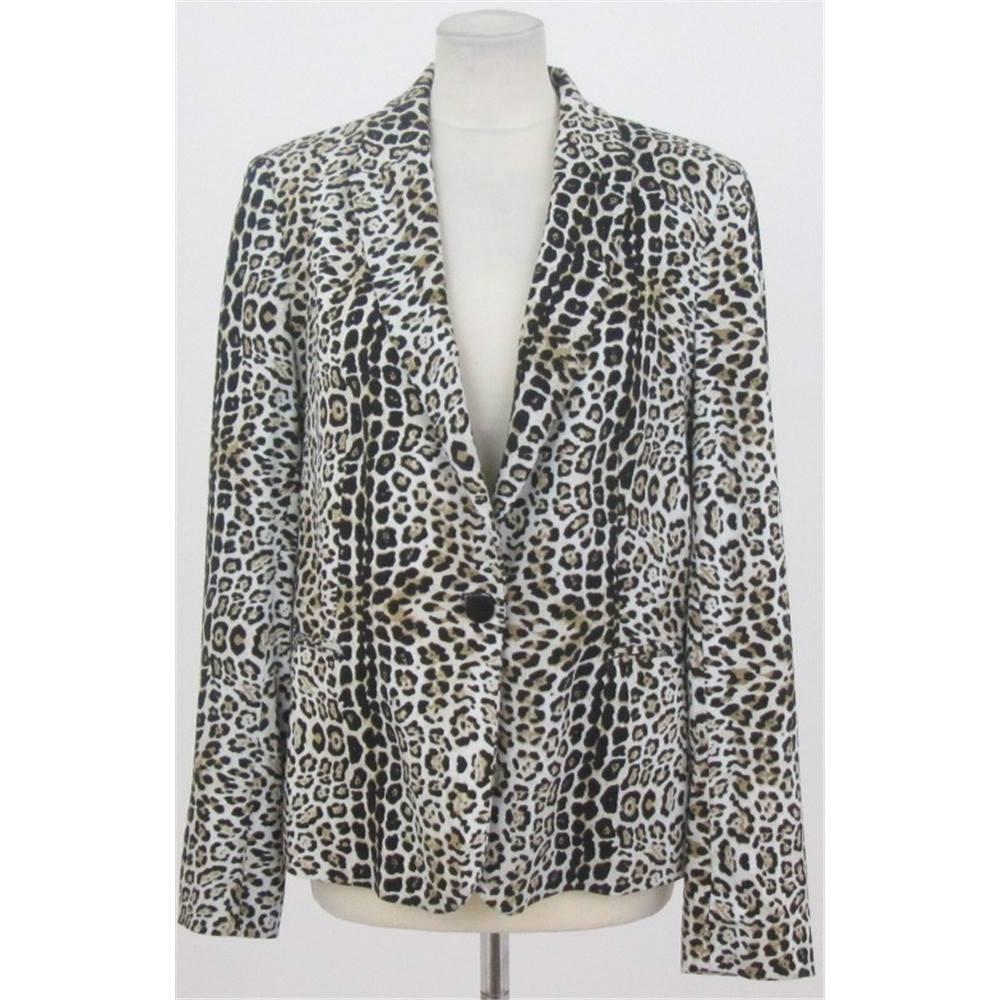 fdc3b321439b Zara - Size: XL Animal print jacket | Oxfam GB | Oxfam's Online Shop