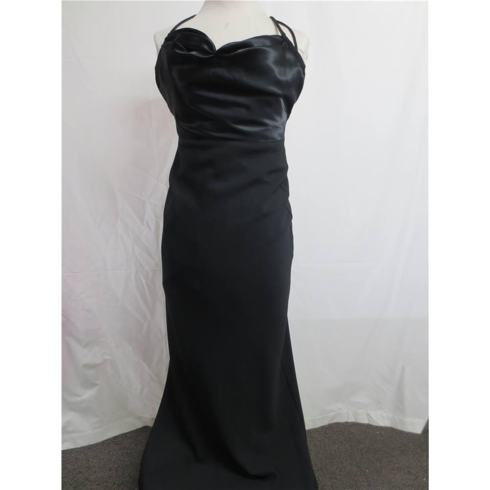 Dawn Stretton Black Long Evening Dress Made in England Size 10 Dawn ...