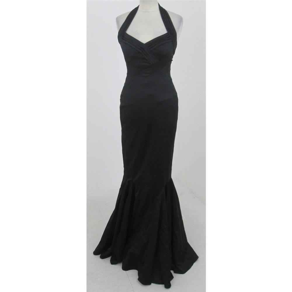 e69a1aa258a Karen Millen - Size  10 - Black halter-neck evening dress