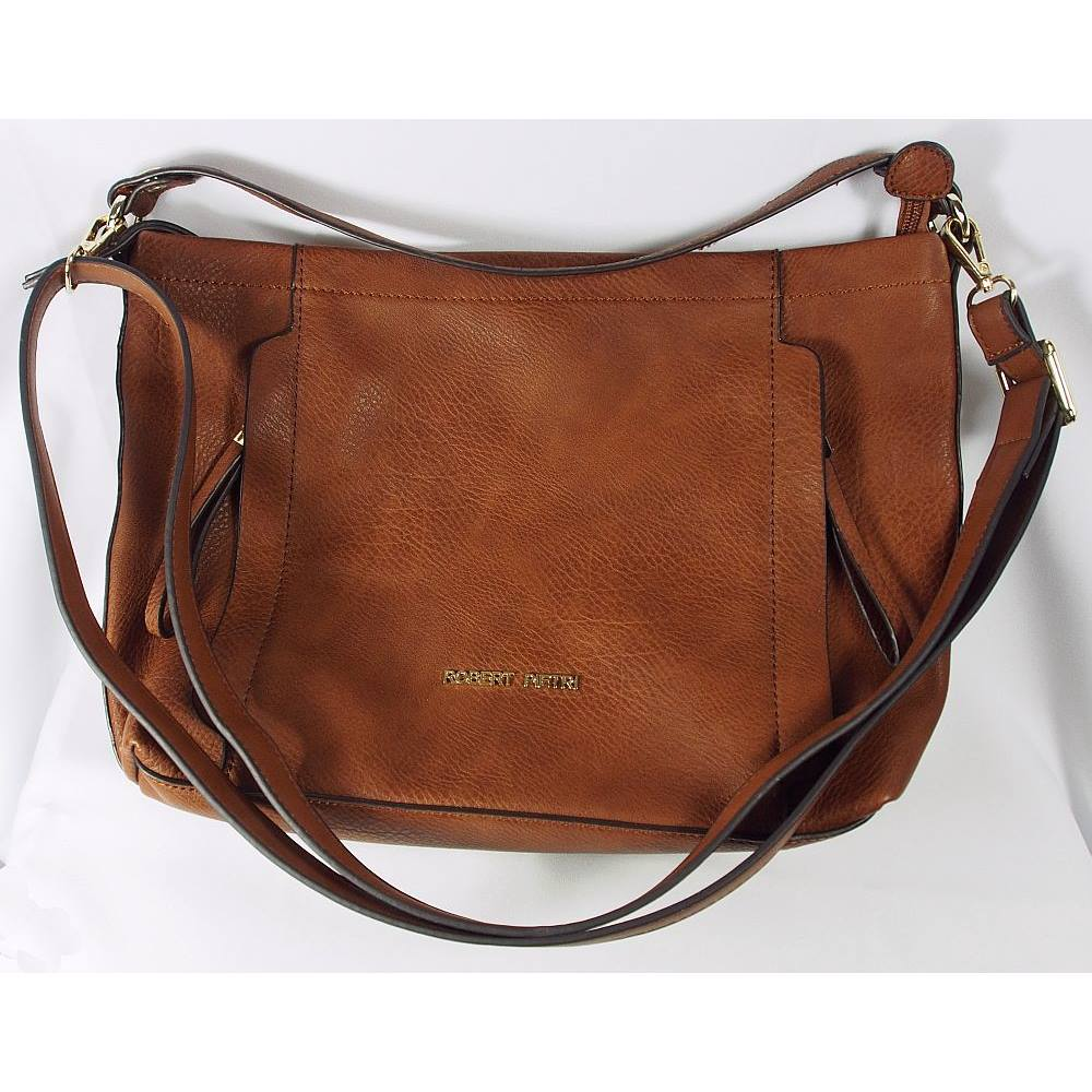 Robert Pietri Brown Hobo Bag Size One Handbag Loading Zoom