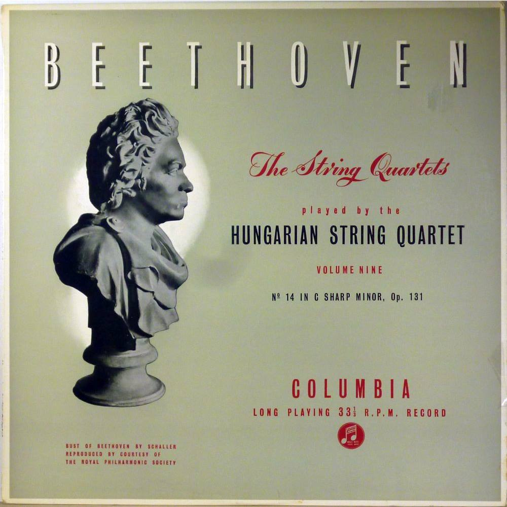 Beethoven : String Quartet No 14 in C Sharp Minor , op 131 - Hungarian  String Quartet 33CX 1442 For Sale in Altrincham, London | Preloved