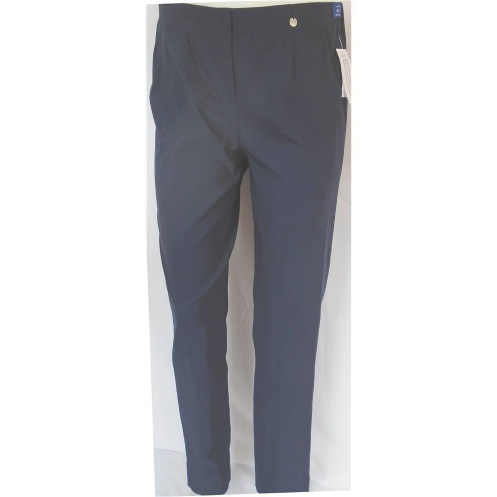 4a13e2246dec New Robell Size  14 slim Fit Navy Blue Smart Trousers