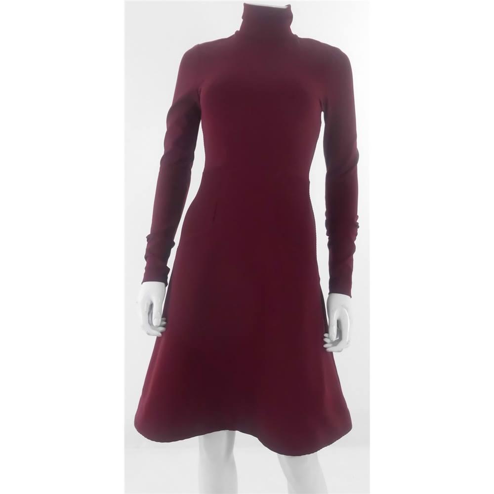 Red Turtleneck Dress