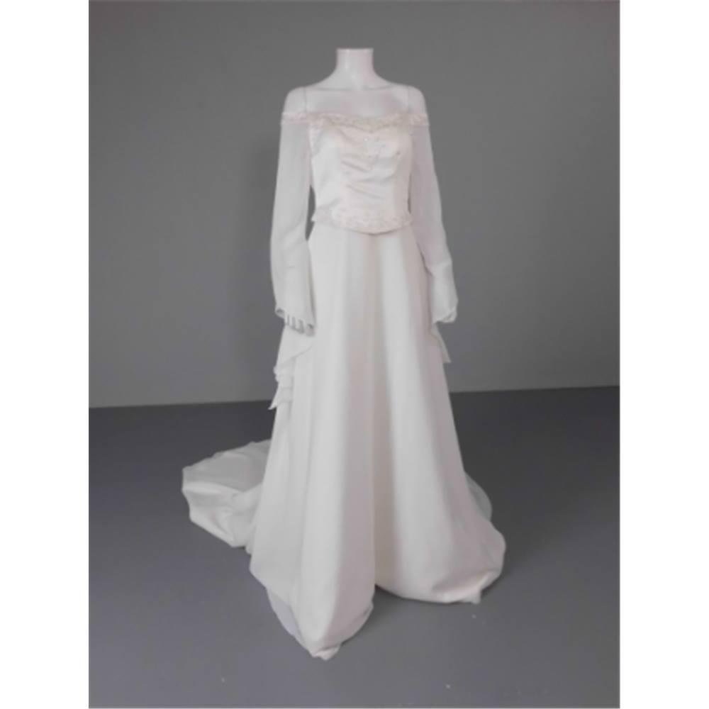 c3266d0baf9 BNWT April Bridal Size 10 Ivory Embroidered Wedding Dress April ...