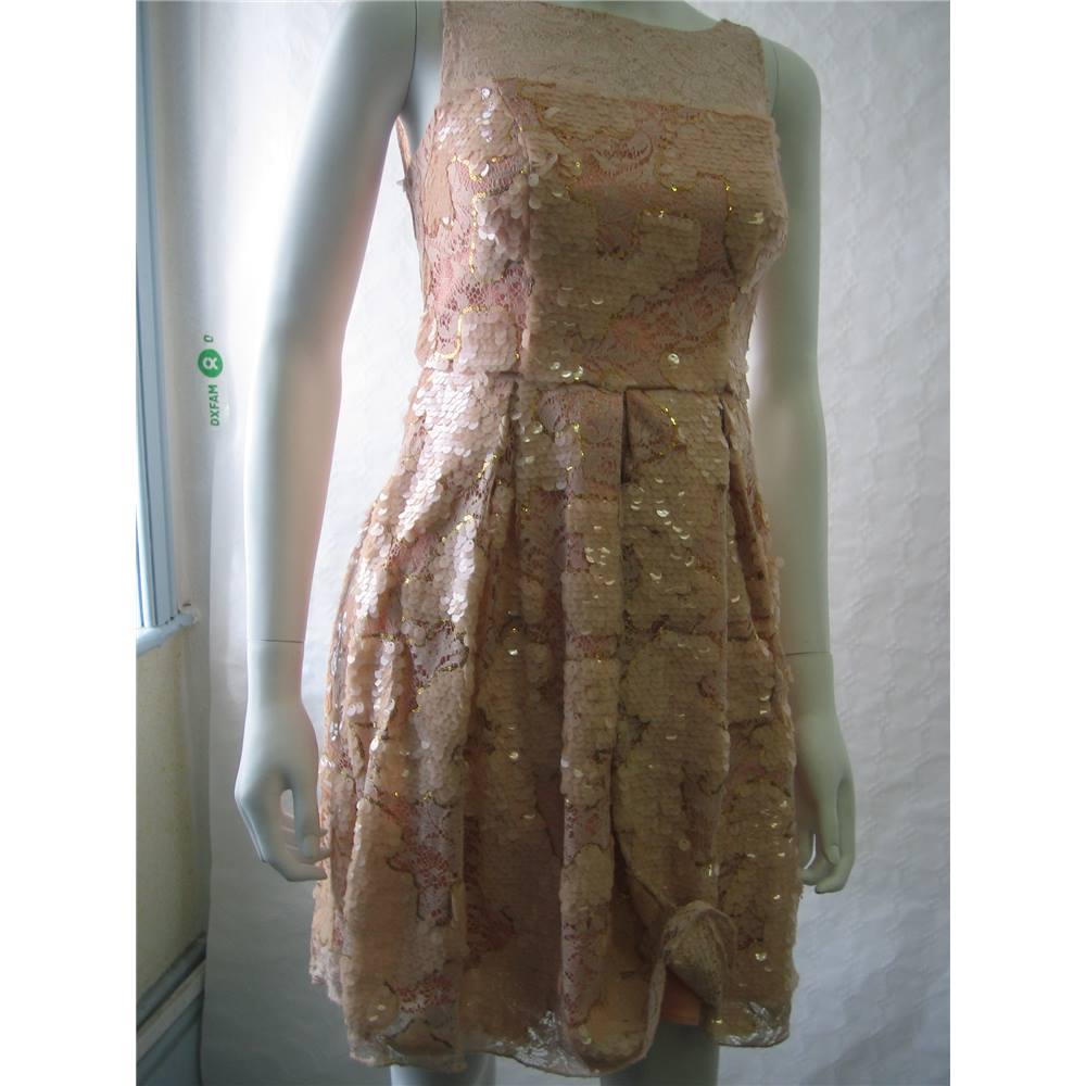 7dbad4f354 Eva Franco - Size: 0 - Pink - Knee length dress | Oxfam GB | Oxfam's ...