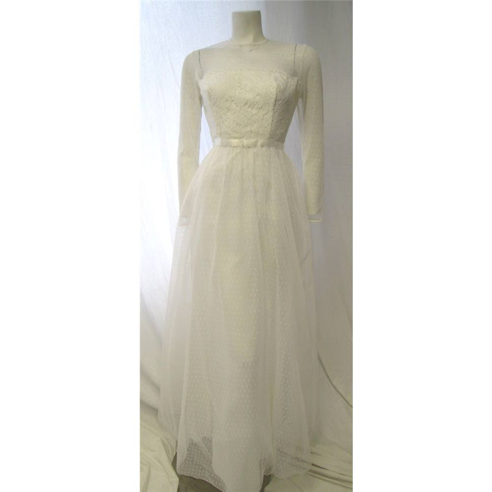 Pronuptia paris size 12 1980s wedding dress pronuptia for Oxfam wedding dress shop