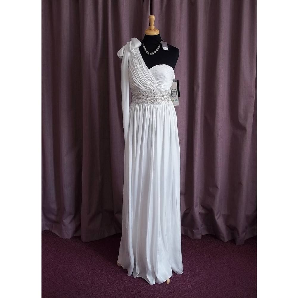 Js Boutique House Of Fraser Ivory Strapless Wedding Dress Size 10 Loading Zoom
