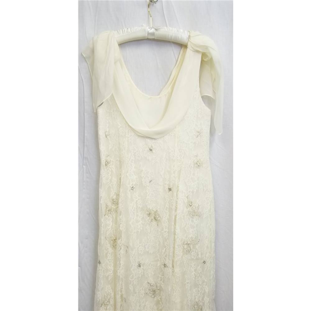 Ivory Monsoon Wedding Dress - Size 18 ss | Oxfam GB | Oxfam\'s Online ...