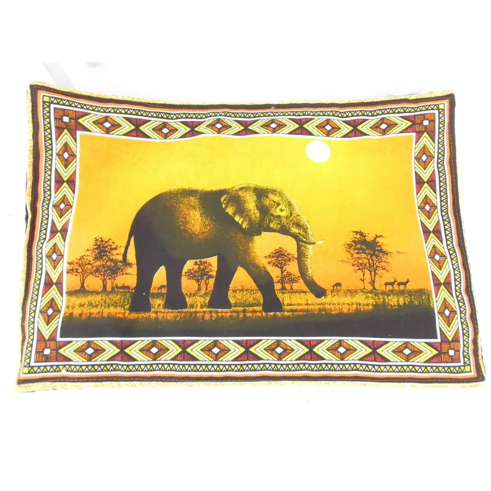 Striking Collection Of 6 Placemats With African Safari Scenes. Loading Zoom