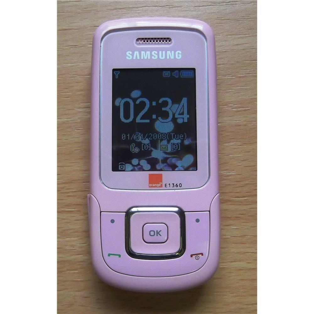 samsung pink slide phone model e1360b orange network oxfam gb rh oxfam org uk Verizon Samsung Phones Samsung Cell Phones