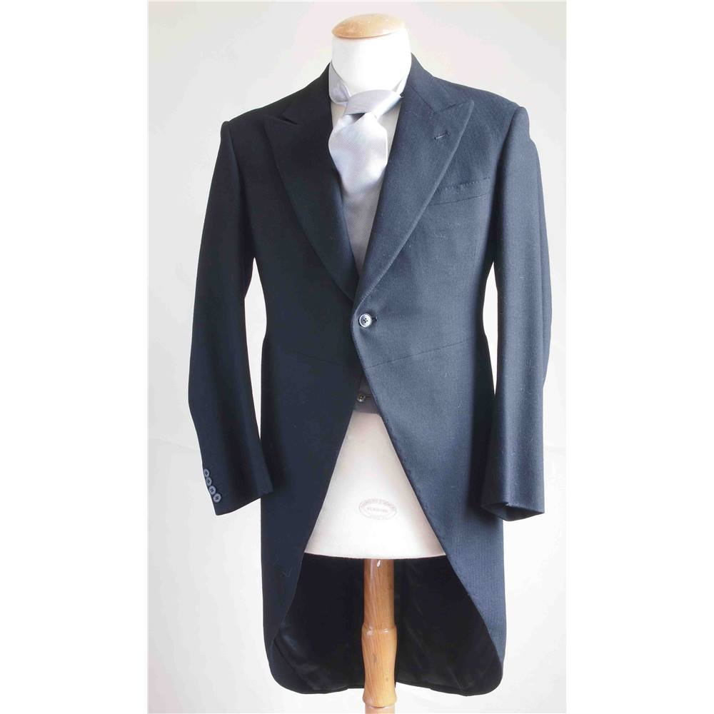 Moss Bros Tail Coat Suit Moss Bros Size M Black Oxfam Gb