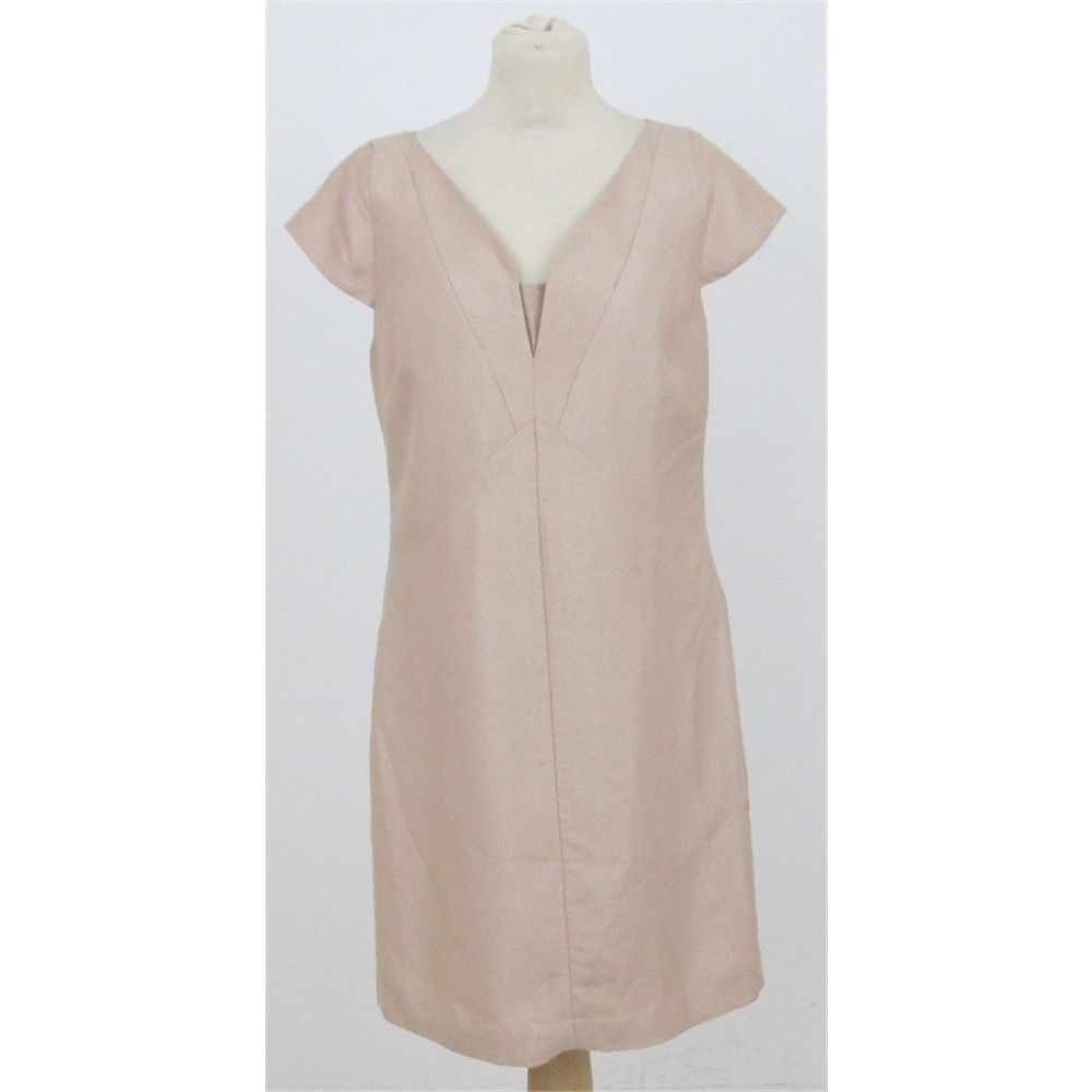Neutral Knee Length Dress