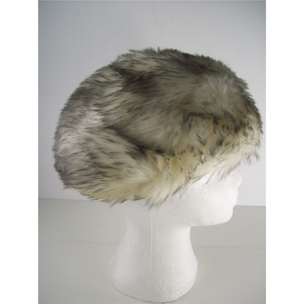 9e5b64da744 Bermona Model London Cream tipped with Black Faux Fur Cossack Style Hat. Loading  zoom