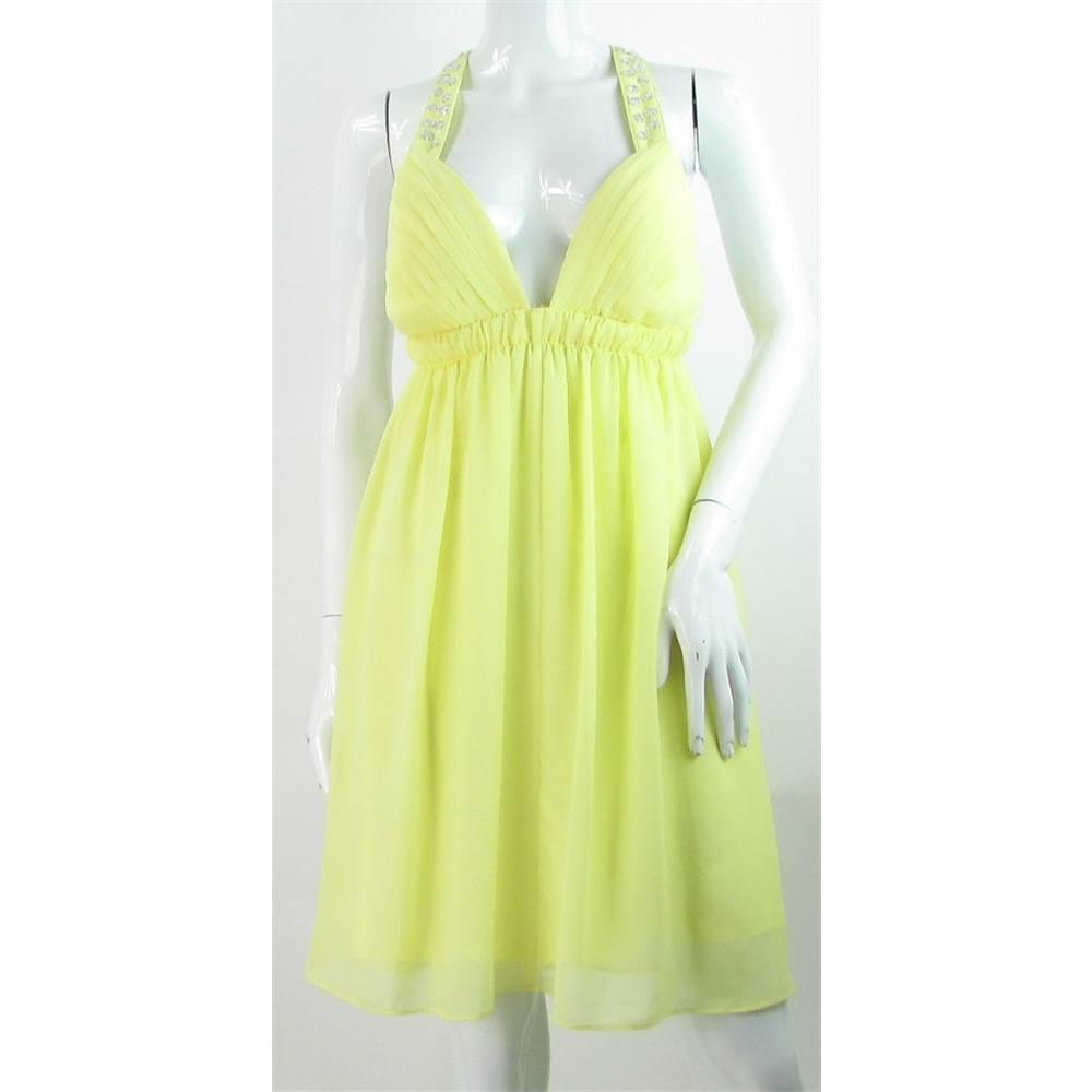 BNWT Diamond by Julien Macdonald - Size: 12 - Pale Yellow Dress ...