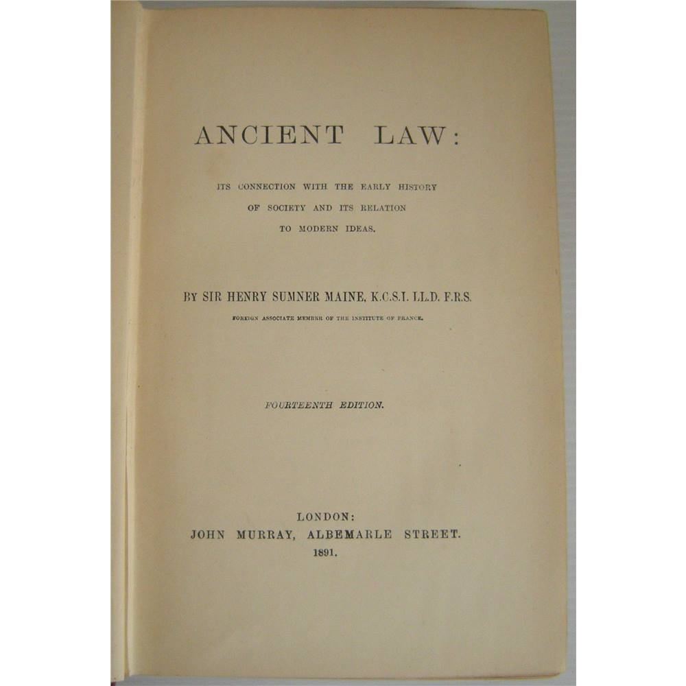 sir henry maine ancient law